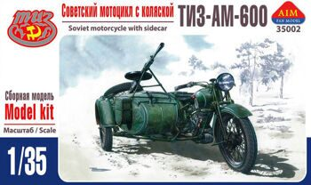 35002  TIZ-AM-600 Soviet motorcycle with sidecar