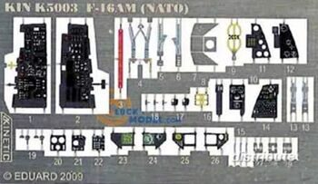 KIN-K5003 F-16AM (NATO) color photo etched parts for kinetic 1/48 kit