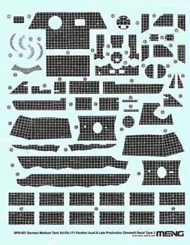 SPS-051 1/35 German Medium Tank Sd.Kfz.171 Zimmerit Decal Type B