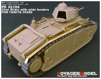 PE35104 Photo Etched set for 1/35 Char BI-bis with wide fenders(For TAMIYA 35282)