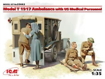 35662 Model T 1917 Ambulance with US Medical Personnel