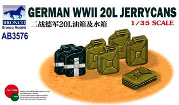 AB3576 1/35 GERMAN WWII 20L JERRYCANS