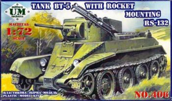 406 BT-5 Soviet tank with RS-132 rocket system
