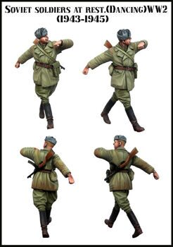 35133 Soviet soldier at rest (dancing) WW2
