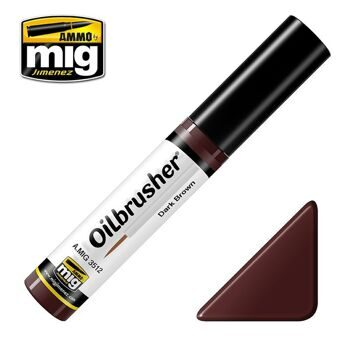 AMIG3512 Ammo Mig Oilbrusher DARK BROWN