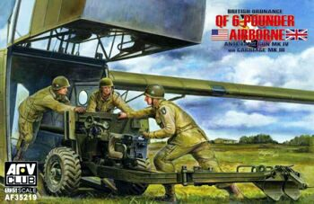 AF35219 1/35 Ordnance QF 6-pdr Anti-Tank Mk.IV on Carriage Mk.III