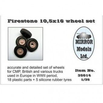 35014 1/35 Wheel Set for CMP and British Trucks Firestone 10.5x16