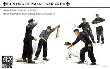 AF35092 Hunting German Tank Crew-5 Figures 1:35