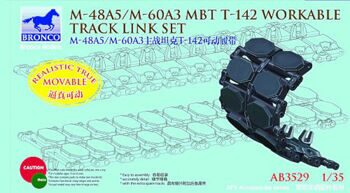 AB3529 M-48A5/M-60A3 mbt t-142 workable track link set