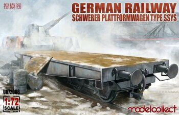 UA72086 German Railway Schwerer Plattformwagen Type SSys