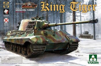 2073 1/35 WWII German Heavy Tank Sd.Kfz.182 King Tiger Henschel Turret w/interior [without Zimmerit]
