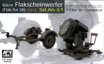 AF35125 1/35 GERMAN SW-36 SERCHLIGHT/WITH Sd.Ah.51 TRAILER