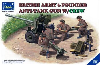 RV35042 1/35 British Army 6 Pounder Anti-Tank Gun w/Crew