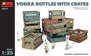 MA35577  Vodka bottles with crates