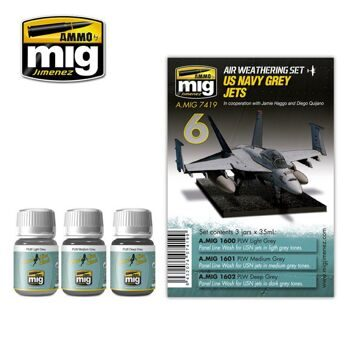 AMIG7419 US Navy Grey Jets (Набор: 1600,1601,1602)