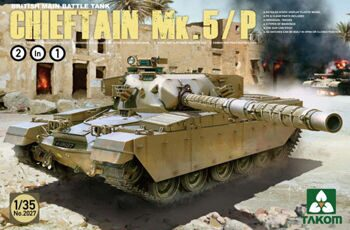 2027 1/35 British Main Battle Tank Chieftain Mk.5/P 2 in 1