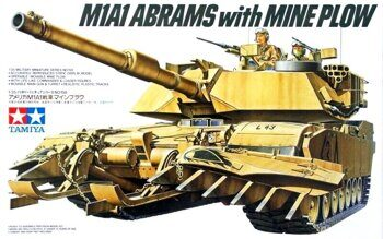 35158 1/35 Амер.танк М1А1 ABRAMS w/MINE PLOW и 2 ф.