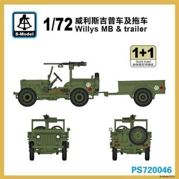 PS720046 Willys MB & Trailer