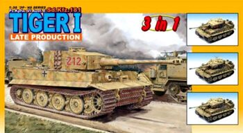 6253 1/35 Pz.Kpfw. VI Ausf. E Sd.Kfz. 181 Tiger I Late Production (3 in 1)