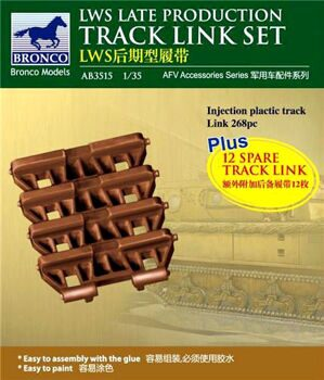 AB3515 1/35 LWS Late-Production Track link set