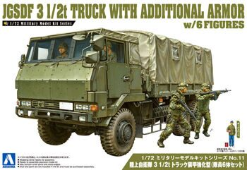012086 1/72 JGSDF 3 1/2t TRUCK WITH ADDITIONAL ARMOR (w/4 FIGURES)