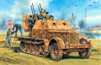 6533 1/35 Sd.Kfz.7/1 2cm Flakvierling 38 with Armor Cab