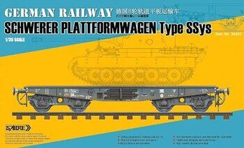 35A02 1/35 GERMAN RAILWAY SCHWERER PLATTFORMWAGEN Type SSys