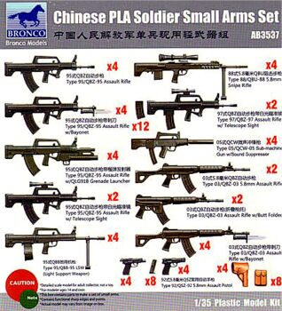 AB3537 Chinese PLA Soldier Small arms Set