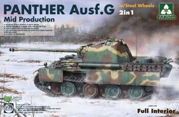 2120 1/35 WWII German medium Tank Panther Ausf.G Mid production w/ Steel Wheels 2 in 1