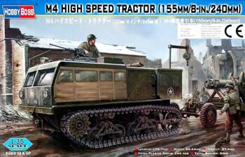 82408 Танк M4 High speed tractor  (155mm/8-in./240mm) (Hobby Boss) 1/35