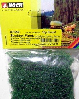 07352 Structured Flock medium green, coarse
