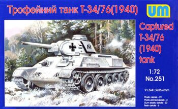 251  T-34-76 WW2 captured tank, 1940