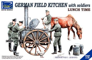 RV35045 1/35 German Field Kitchen with Soliders(cook & three German soldiers,food containers)