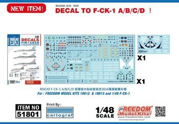 51801 F-CK-1 1/48 Decal Print by cartograf