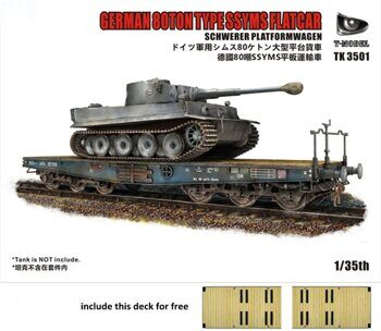 TK3501-I German 80T Type SSyms Schwerer platormwagen(Tank not include)(Bonus: Wooden Deck set)