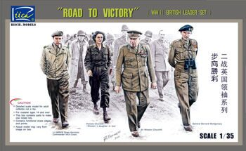 "RV35023  1/35 ""Road To Victory"", WWII British Leaders Set (4 Figures)"