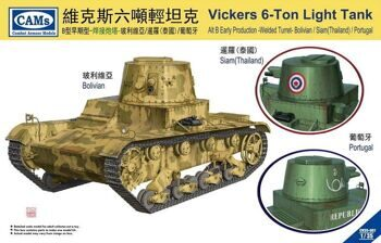 CV35007 Vicker 6-tons Light Tank Alt B Early Production-Welded Turret