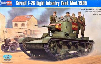 82496 Танк Soviet T-26 Light Infantry Tank Mod.1935 (Hobby Boss) 1/35