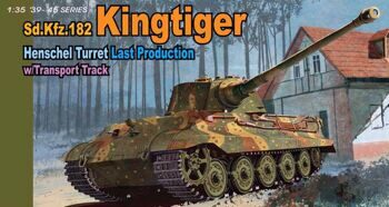 6209 1/35 Sd.Kfz. 182 King Tiger Henschel Turret Last Production w/Transport Track