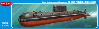 MM350-034  pr.685 Plavnik/Mike-class, Soviet nuclear-powered submarine