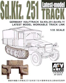 AF35070 Sdkfz251 TRACK THE LATEST TYPE  (WORKABLE)