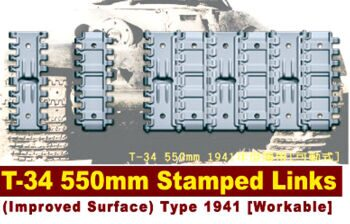 "AF35142 T-34""S 550mm STAMPED LINKS(Improved Surface) Workable 1:35"
