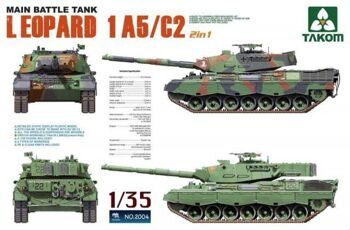 2004 1/35 Main Battle Tank Leopard  1 A5/C2 2 in 1