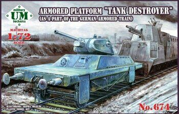 "UMT674  ""Tank Destroyer"" armored platform (as a part of the German armored train)"