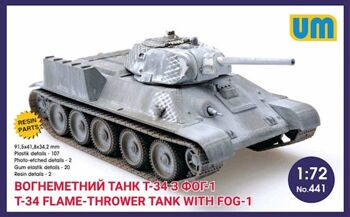 441  T-34 flame-thrower tank with FOG-1