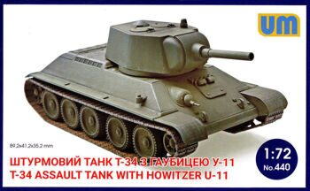 440  T-34 Assault tank with howitzer U-11