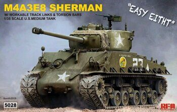 RM-5028 1/35 SHERMAN M4A3E8 W/ WORKABLE TRACK LINKS