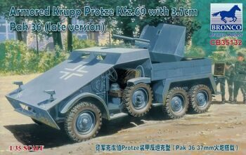CB35132 Armored Krupp Protze Kfz/69 with 3.7cm Pak. 36 (late version)