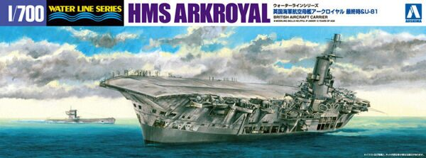 010228 1/700 ROYAL NAVY AIRCRAFT CARRIER ARK ROYAL VS U-BOAT81