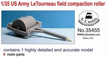 35455 1/35 US Army LeTourneau field compaction roller